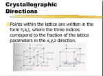 crystallographic directions14