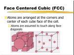 face centered cubic fcc