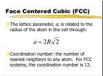 face centered cubic fcc3