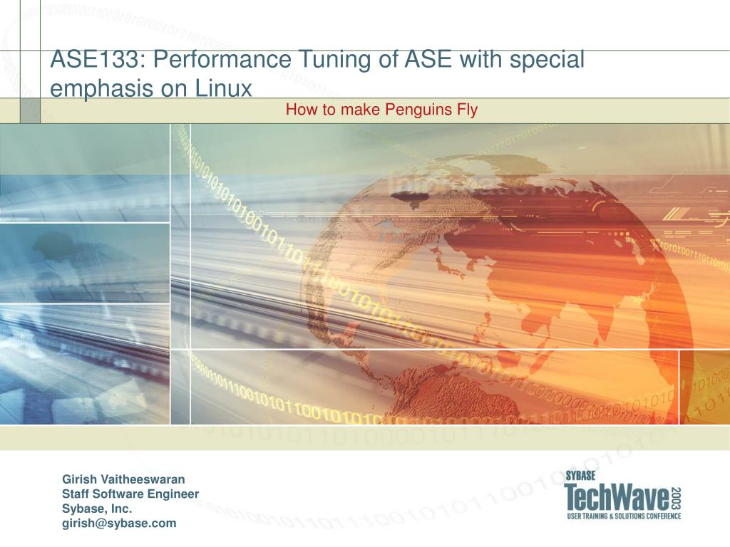 ase133 performance tuning of ase with special emphasis on linux l.