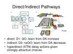direct indirect pathways