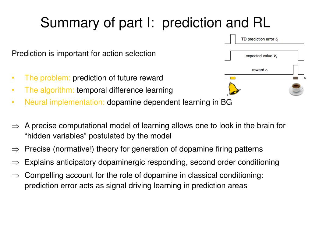 summary of part i prediction and rl l.