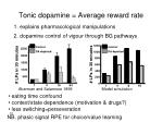 tonic dopamine average reward rate