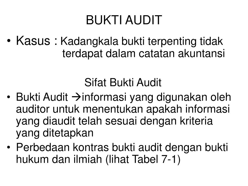 bukti audit l.