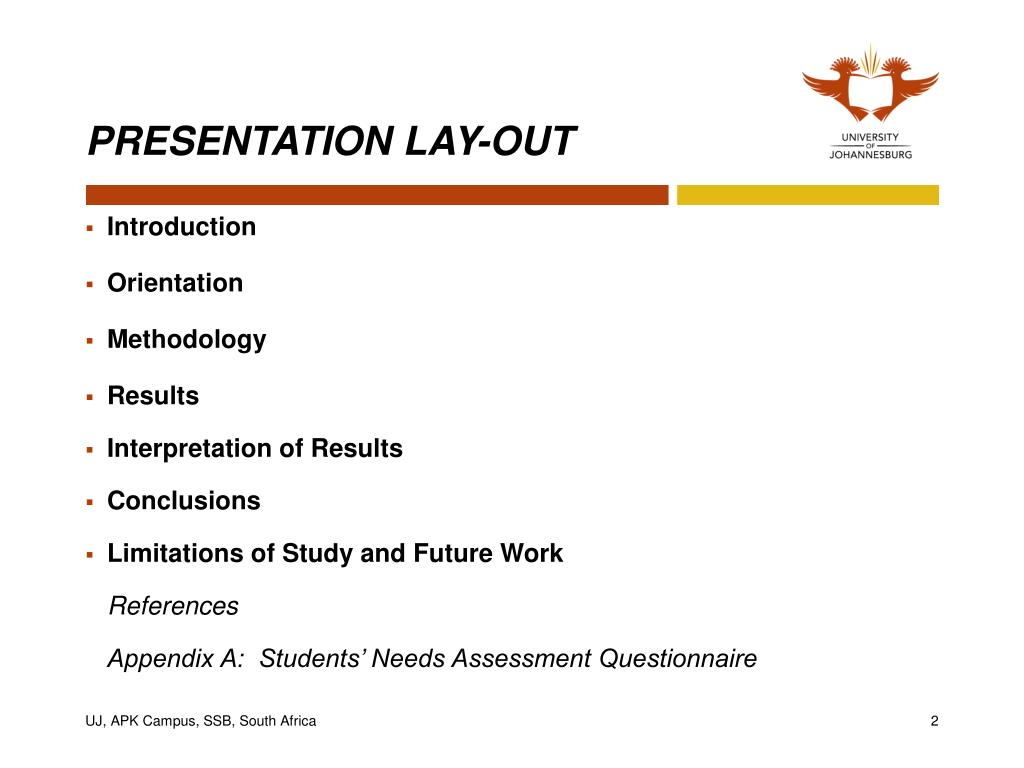 PRESENTATION LAY-OUT