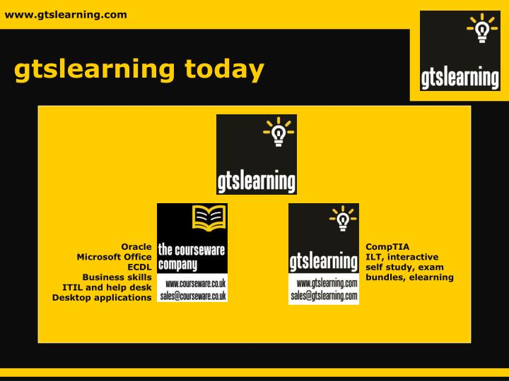Gtslearning today