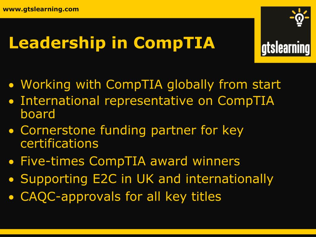Leadership in CompTIA