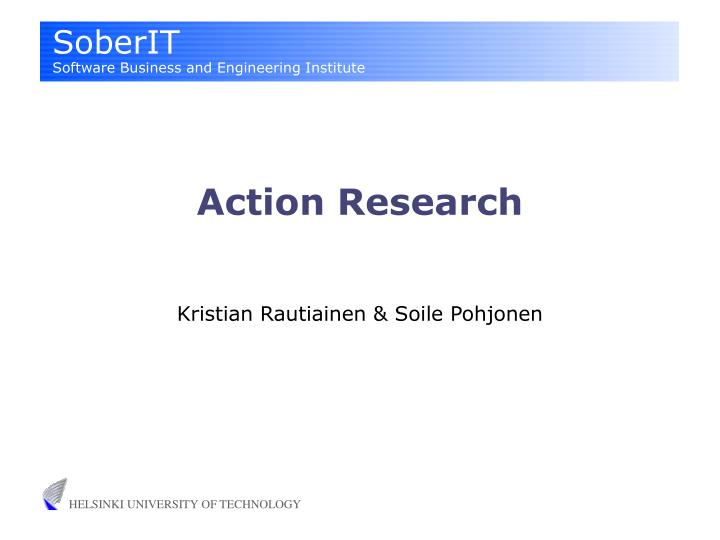 action research n.