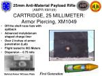 cartridge 25 millimeter armor piercing xm1049