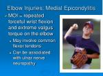 elbow injuries medial epicondylitis