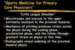 sports medicine for primary care physician s14