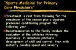 sports medicine for primary care physician s15