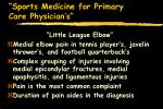 sports medicine for primary care physician s16