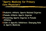 sports medicine for primary care physician s2