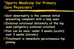 sports medicine for primary care physician s28