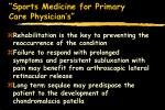 sports medicine for primary care physician s32