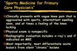 sports medicine for primary care physician s34