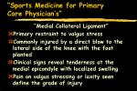 sports medicine for primary care physician s41