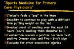 sports medicine for primary care physician s46