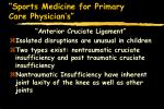sports medicine for primary care physician s49