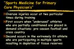 sports medicine for primary care physician s5
