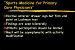 sports medicine for primary care physician s50