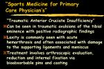 sports medicine for primary care physician s51