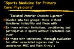 sports medicine for primary care physician s52