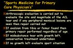 sports medicine for primary care physician s53