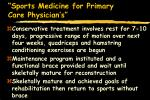 sports medicine for primary care physician s54
