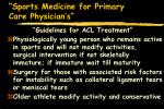 sports medicine for primary care physician s56