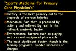 sports medicine for primary care physician s6