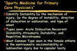 sports medicine for primary care physician s60