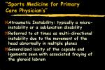 sports medicine for primary care physician s63