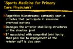 sports medicine for primary care physician s64