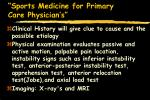 sports medicine for primary care physician s65