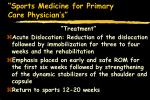 sports medicine for primary care physician s66