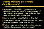 sports medicine for primary care physician s67