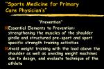 sports medicine for primary care physician s68