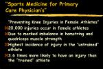 sports medicine for primary care physician s69