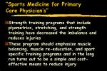 sports medicine for primary care physician s70