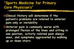 sports medicine for primary care physician s72