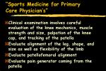sports medicine for primary care physician s74
