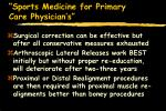 sports medicine for primary care physician s78