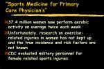 sports medicine for primary care physician s81