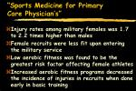 sports medicine for primary care physician s82