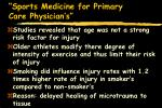 sports medicine for primary care physician s83