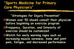 sports medicine for primary care physician s85