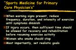 sports medicine for primary care physician s86