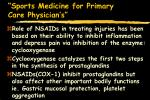 sports medicine for primary care physician s88